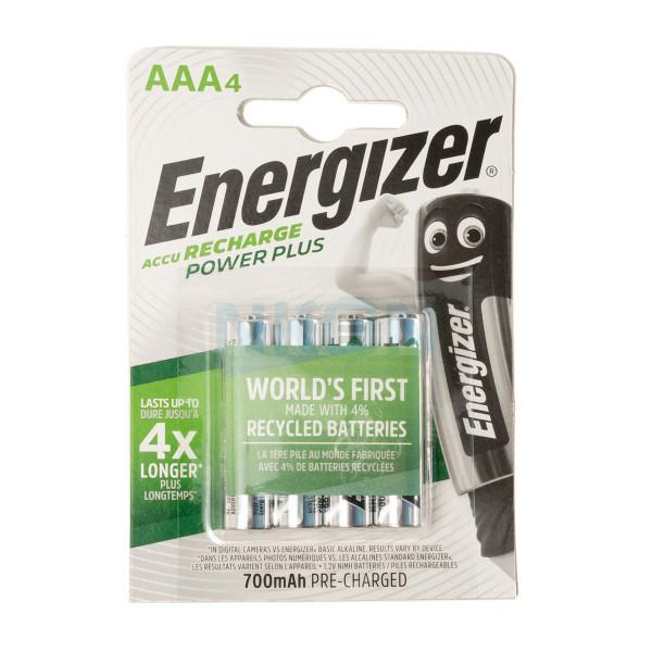 4 AAA Energizer Recharge Power Plus - 700mAh