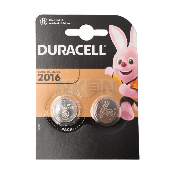 2x Duracell CR2016 - blister - 3V