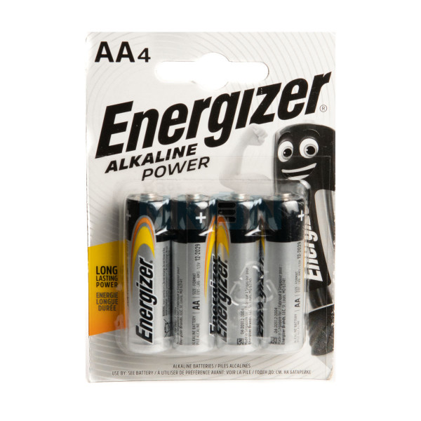 4 AA Energizer Alkaline Power - 1.5V