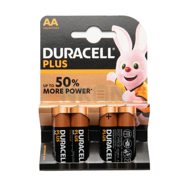 4 AA Duracell Plus - 1.5V