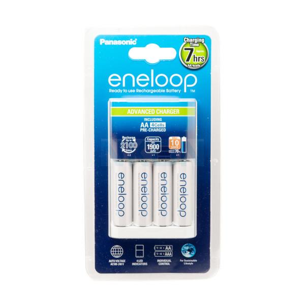 Cargador de Batería Panasonic Eneloop BQ-CC17 + 4 Eneloop AA (1900mAh)