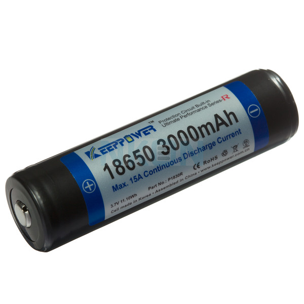 Keeppower 18650 3000mAh (protected) - 15A