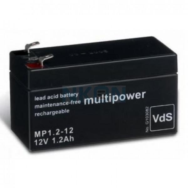 Multipower 12V 1.2Ah Batería de plomo (4.8mm)