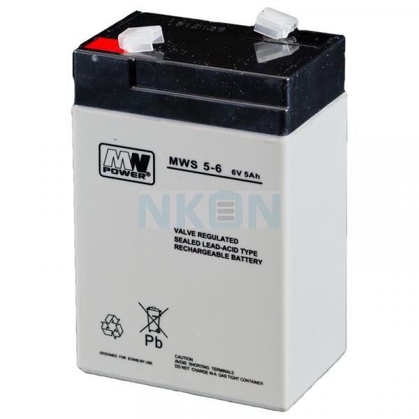 MWPower 6V 5Ah Batería de plomo
