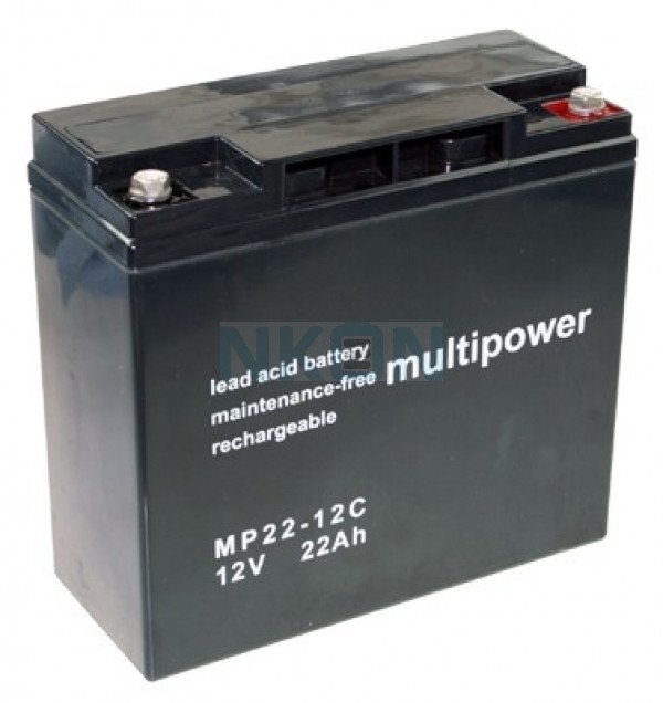 Multipower Deep Cycle 12v 22Ah Batería de plomo
