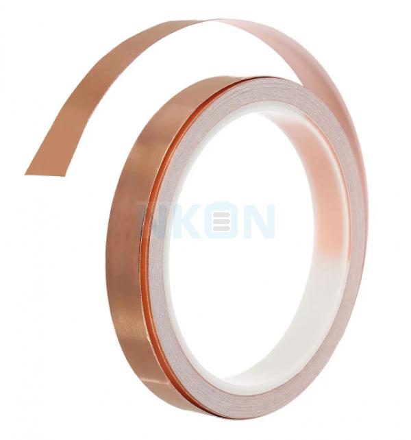 1 rollo de cinta de lámina de cobre conductora individual de 5 mm