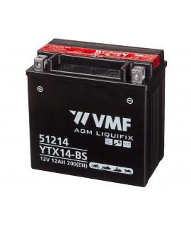 VMF Powersport MF 12V 12Ah Batería de ácido sólido