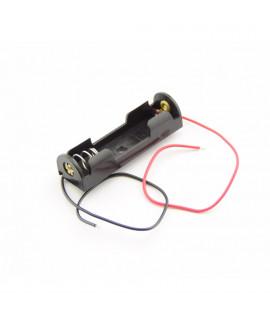 Soporte para pilas AA 1x con cables sueltos