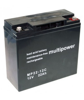 Multipower Deep Cycle 12v 22Ah Batería de plomo