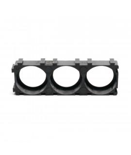 El soporte espaciador de batería 3x18650 NO SE ADAPTA A LA TIRA DE NÍQUEL DE 27 MM