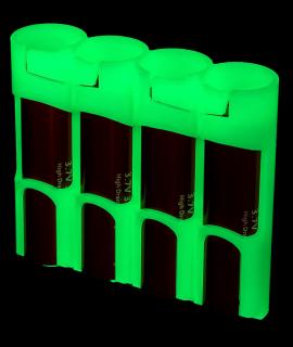 4x 18650 Powerpax Battery case - glow in the dark