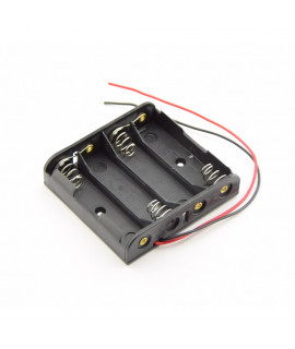 Soporte de batería AA 4x con cables sueltos