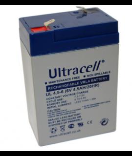 Ultracell 6V 4.5Ah Batería de plomo