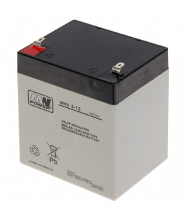 MWPower 12V 5Ah Batería de plomo