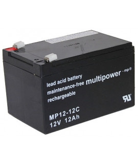 Multipower Deep Cycle 12V 12Ah Batería de plomo