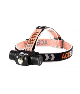 Lámpara frontal Acebeam H30 Blanco Frio (6500K) + LED UV Nichia