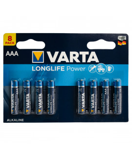 8 AAA Varta Longlife Power - 1.5V