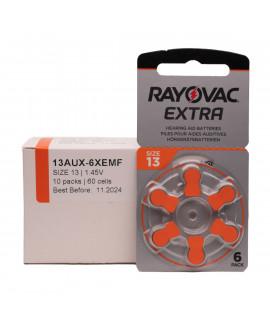 60x 13 Rayovac Extra Pilas para audífonos