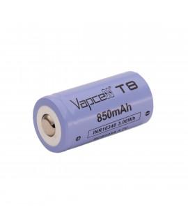 Vapcell INR16340 850mAh - 3A botón superior