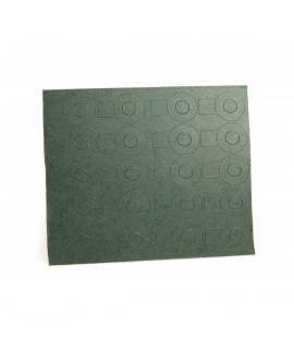 1x18650 papel aislante con etiqueta