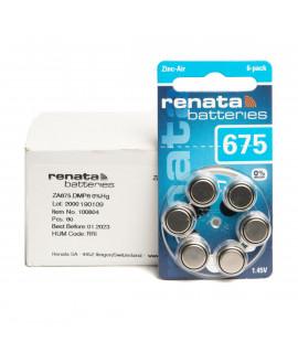 60x 675 Renata ZA Pilas para audífonos