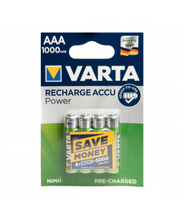 4 AAA Varta Recharge Accu Power - 1000mAh