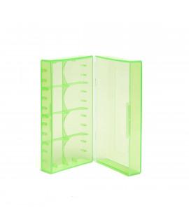 2x 18650 of 4x 18350 caja de batería VERDE