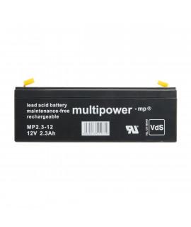 Multipower 12V 2.3Ah Batería de plomo