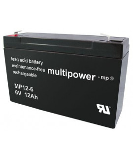 Multipower 6V 12Ah Batería de plomo (4.8mm)