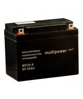 Multipower 6V 20Ah Batería de plomo