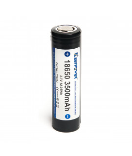 Keeppower 18650 3500mAh (protected) - 10A parte superior plana