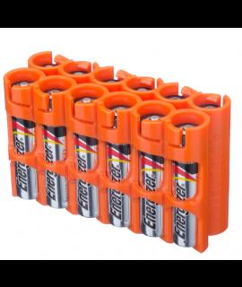 Estuche para 12 pilas AAA Powerpax - Naranja
