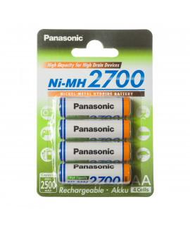 4 AA Panasonic 2700 - 2500mAh