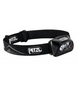 Lámpara de cabeza negra Petzl Actik - 350 lúmenes