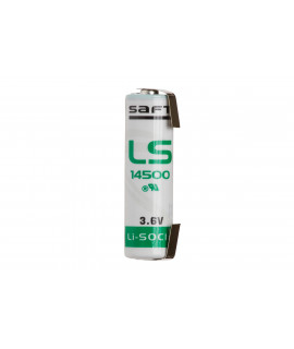 SAFT LS14500 / AA Litio con etiquetas en U - 3.6 V