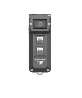 Nitecore TUP - Lámpara de llavero de 1000 lúmenes recargable EDC - Gris