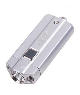 Acebeam UC15 Nichia 90+ CRI - Plata linterna (incluidas las baterías 10440)
