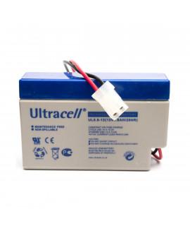 Ultracell 12V 0.8Ah Batería de plomo con enchufe AMP