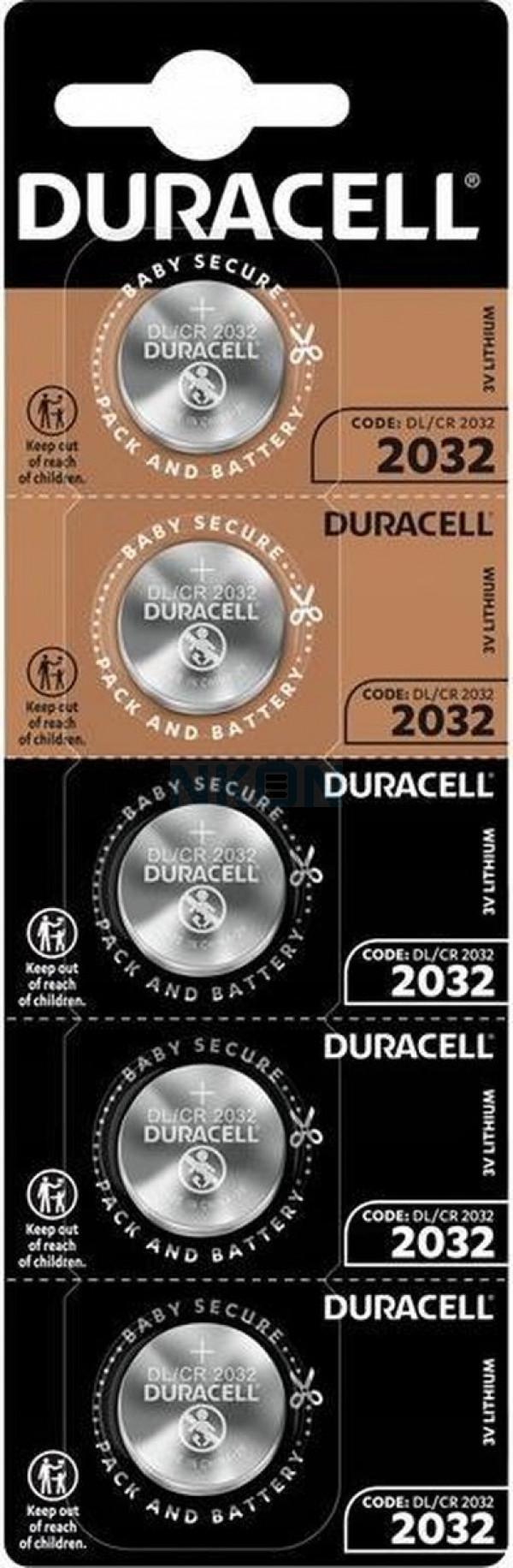 5x Duracell CR2032 - 3V