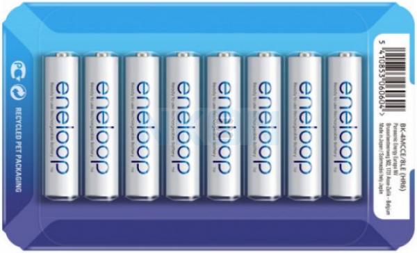 8 AAA Eneloop - 750mAh - блистерная упаковка