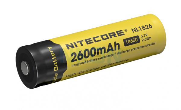Nitecore 18650 NL1826 2600mAh (защищенный) - 4A
