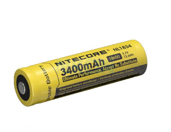 Nitecore 18650 NL1834 3400mAh (защищенный) - 4A