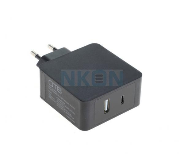 OTB USB быстрое зарядное устройство DUAL (USB-C + USB-A) с USB-PD - 30 Вт