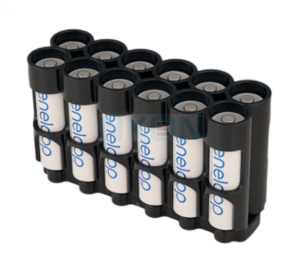12 AA Powerpax магнитный кейс для батареек