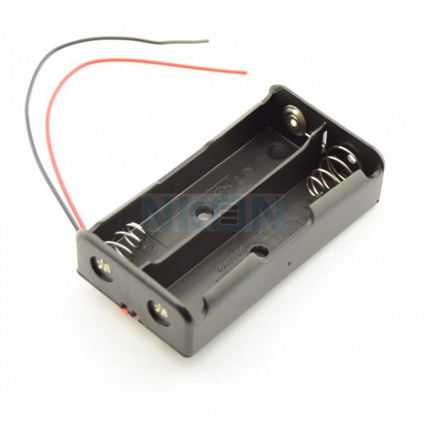 2x 18650 устройство для батарей с проводами