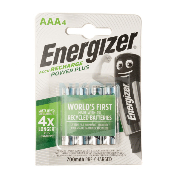 4 AAA Energizer Recharge Power Plus - 700mAh