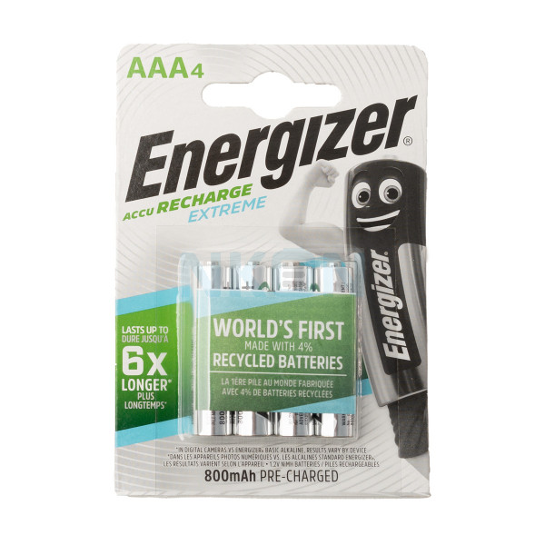 4 AAA Energizer Recharge Extreme - 800mAh