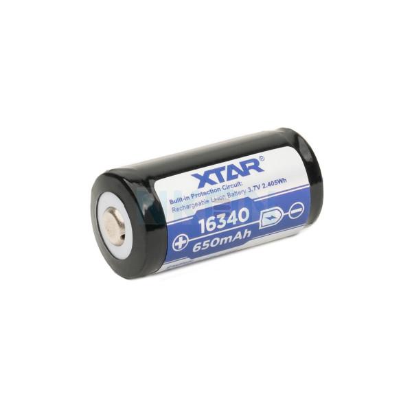 XTAR 16340 650 мАч (защищенный) - 1,2 А