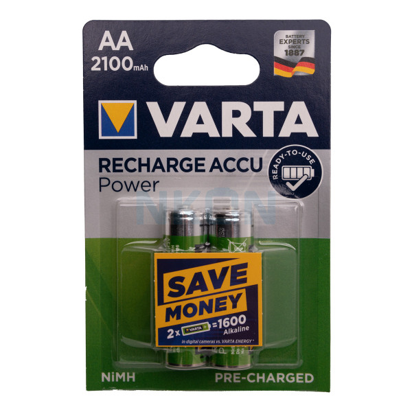 2 AA Varta Recharge Accu Power - 2100mAh