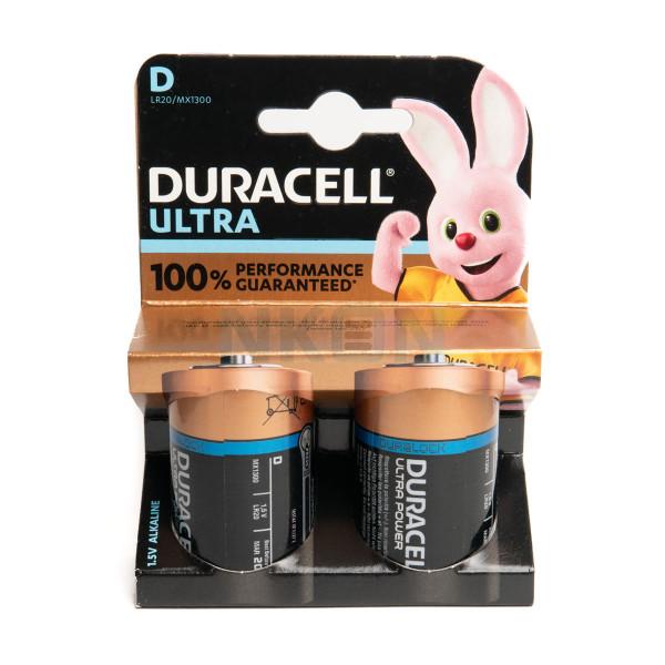 2x D Duracell Ultra - блистер
